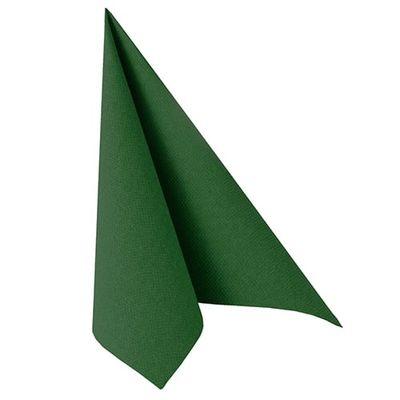 50 serviettes de table Papstar «Collection ROYAL» 1/4 de pli 40 cm x 40 cm vert foncé