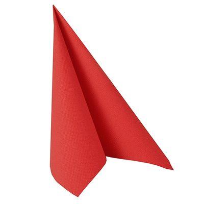50 serviettes de table Papstar «Collection ROYAL» 1/4 de pli 40 cm x 40 cm rouge
