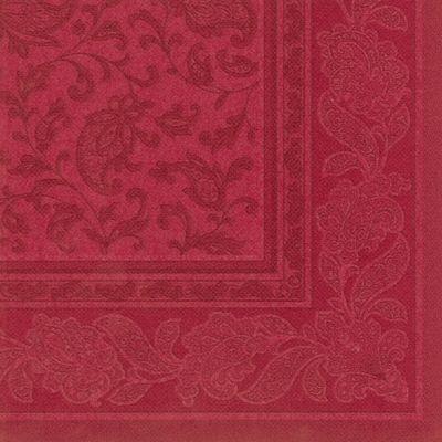 """Papstar 50 Servietten """"ROYAL Collection"""" 1/4-Falz 40 cm x 40 cm bordeaux """"Ornaments"""""""