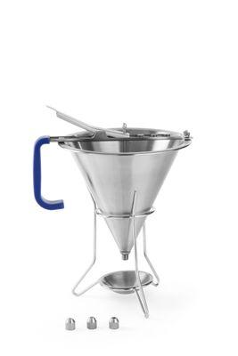 Edelstahl Saucendosierer mit Gestell, 3 Düsen, Inhalt 1,5 Liter