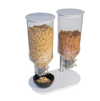 Distributeur de céréales APS DUO ECO, 2x 4,5 litres - blanc