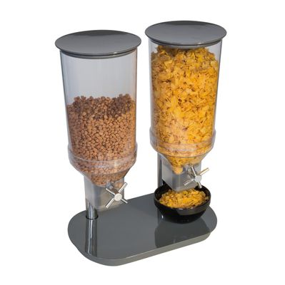 Distributeur de céréales APS DUO ECO, 2 x 4,5 litres - anthracite