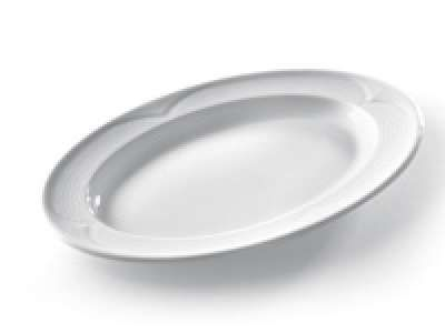 """Porzellanserie """"Saturn"""" Platte oval 340x240mm"""