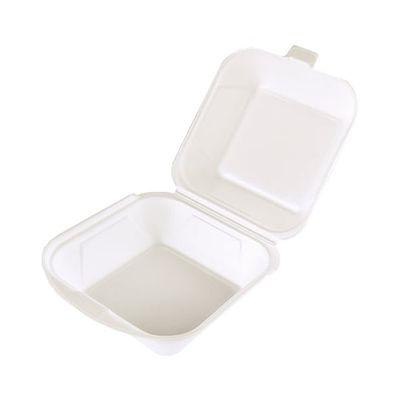 100 boîtes à hamburgers Papstar avec couvercles à charnière, EPS 7,5 cm x 12 cm x 12 cm blanc