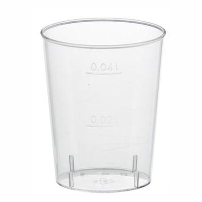 Papstar 40 Gläser für Schnaps, PS 4 cl Ø 4,2 cm x H: 5,2 cm glasklar