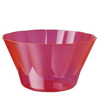 Papstar 54 Eis- und Dessertschalen, PS rund 400 ml Ø 12 cm x H: 7 cm pink