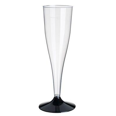 20 verres à pied Papstar pour vin mousseux, PS 0,1 l Ø 5 cm x H : 17,5 cm, transparent