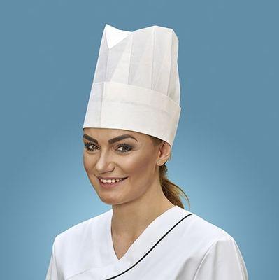 10 toques de chef Papstar, en crépon 23 cm x 27,7 cm blanc «Provence» taille réglable
