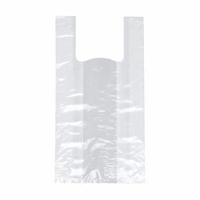 Papstar 200 Hemdchen-Tragetaschen, HDPE 55 cm x 22 cm x 15 cm weiss mittel