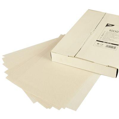 1000 feuilles de papier d'emballage crème, Papstar, 32 cm x 22 cm blanc