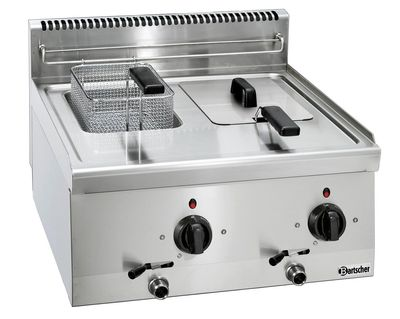 Bartscher Elektro-Fritteuse 600 Imbiss 2 x 6L - Tischgerät