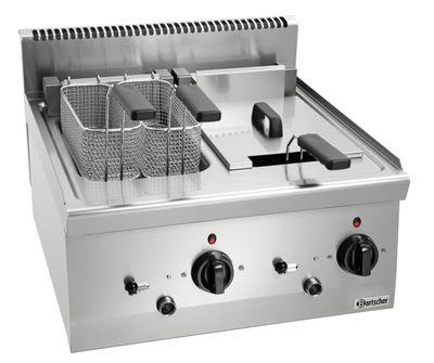 Bartscher Elektro-Fritteuse 600 Imbiss 2 x 8L - Tischgerät