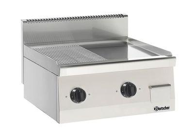 Bartscher Elektro-Griddleplatte 600 Imbiss 1/2 glatt 1/2 gerillt