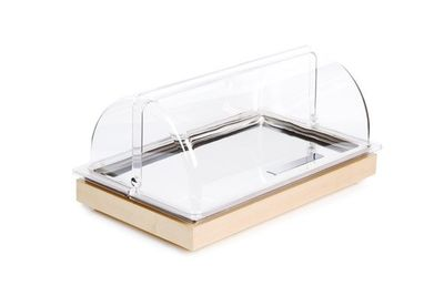 Plateau de refroidissement APS - FRAMES - jeu de 2, avec couvercle coulissant, marron - 53 x 32,5 cm, hauteur : 27,5 cm