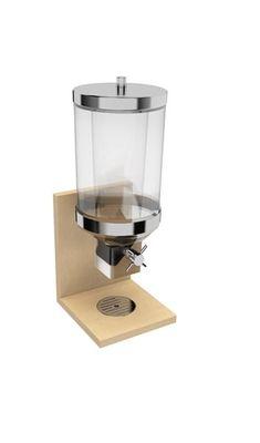 Distributeur de céréales APS - BRIDGE- érable, 21 x 20 cm, hauteur: 55,5 cm, 4,5 litres