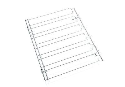 Rail porte-verre, support avec 5 rails chromés, dim./cm 61 x 50
