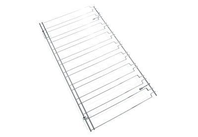Rail porte-verre, support avec 8 rails chromés, dim./cm 91 x 50
