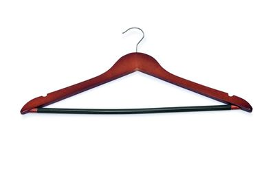 Kleiderbügel Holz Dunkel - Steg und Rockeinkerbung