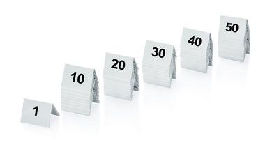 Chevalet numérotation des tables 1-50, plastique