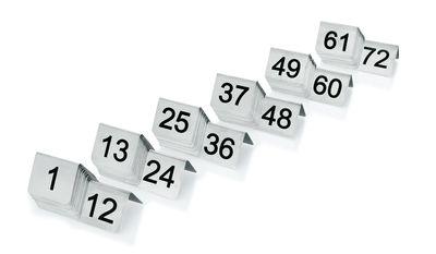 Plaque de numéro de table de 1 à 12, largeur 5 cm, hauteur 4 cm