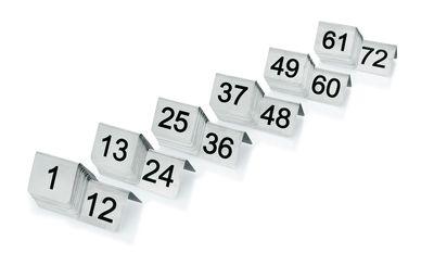 Plaque de numéro de table de 25 à 36, largeur 5 cm, hauteur 4 cm