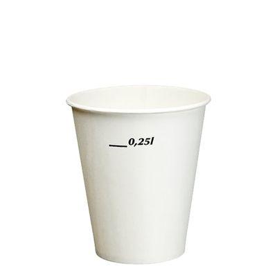 100 gobelets Papstar pour boissons fraîches, en carton, 0,25 l, Ø 8,97 cm x hauteur : 10 cm, blanches