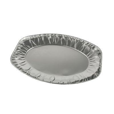 10 assiettes de service Papstar, ovales en aluminium 35 cm x 24,5 cm