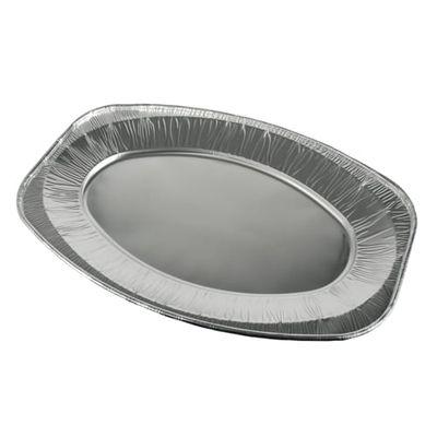10 assiettes de service Papstar, ovales en aluminium 43 cm x 29 cm