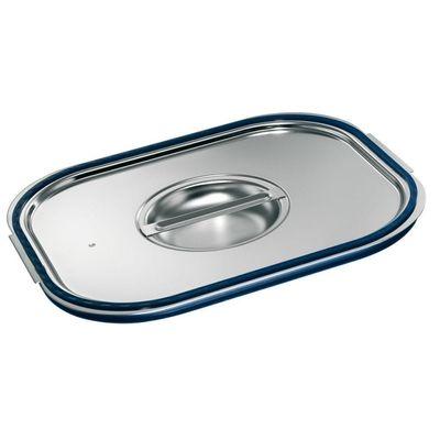Blanco Edelstahl GN-Deckel GN  1/4 mit Formschlussdichtung für Gastronorm-Behälter mit Bügelgriffen