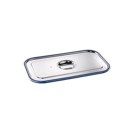 Blanco Edelstahl GN-Deckel GN  1/1 mit Formschlussdichtung für Gastronorm-Behälter mit Bügelgriffen
