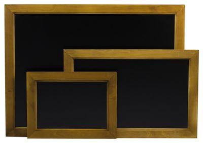 Tableau mural/tableau à craie avec cadre en bois, 30 x 40 cm