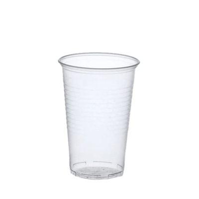 50 gobelets Papstar, PP, 0,4 l, Ø 9,5 cm x hauteur : 12,2 cm transparent avec bord en mousse