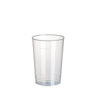 40 gobelets Papstar, PP, 0,2 l, Ø 6,8 cm x hauteur : 9,8 cm translucide incassable
