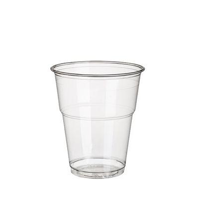70 tasses de boisson froide Papstar, PLA, «pure», 0,3 l, Ø 9,5 cm x hauteur : 11 cm limpide avec bord en mousse