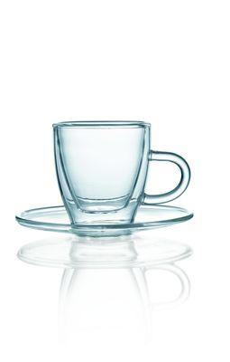 Glas Serie ENJOY, doppelwandig, Espresso mit Unterer