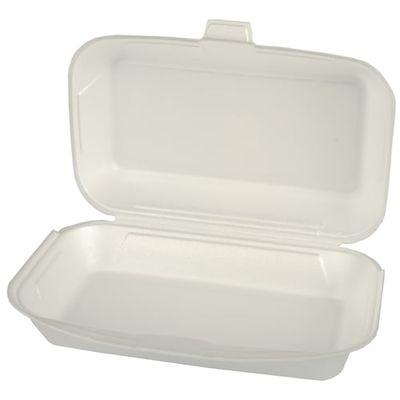 100 boîtes tout usage Papstar avec couvercles à charnière, EPS 1800 ml 7,5 cm x 24 cm x 13,3 cm blanc