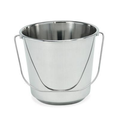 Seau - conception légère en acier au chrome-nickel, volume 7 l