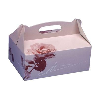 20 boîtes de pâtisserie Papstar, carton, carré, 20 cm x 13 cm x 9 cm, rosé avec poignée