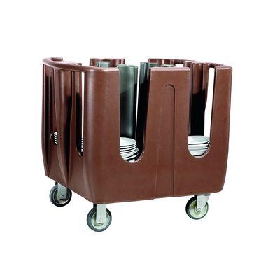 Tellerwagen Abräumwagen für 300 Teller PE braun