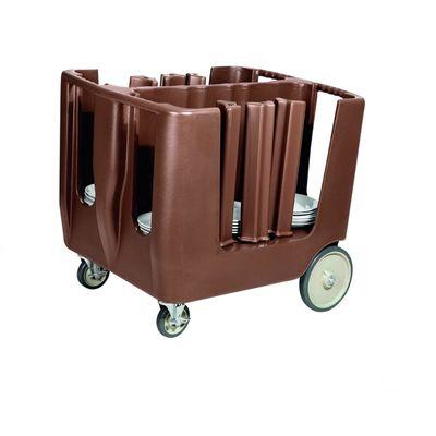 Chariot de débarrassage pour 160 assiettes, PE marron