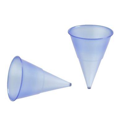 1000 gobelets forme cornet Papstar, PP, 115 ml, Ø 7,03 cm x hauteur : 9,5 cm, bleu, Blue Cone