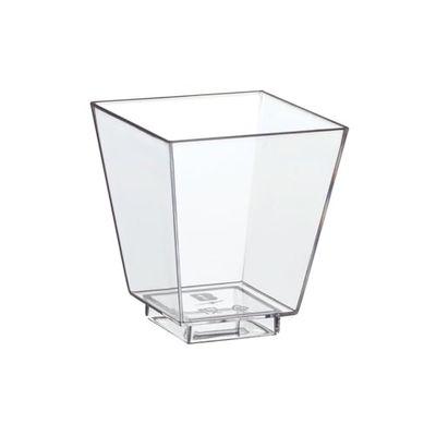 50 Fingerfood - Schalen, PS eckig 50 ml 5 cm x 4,5 cm x 4,5 cm glasklar