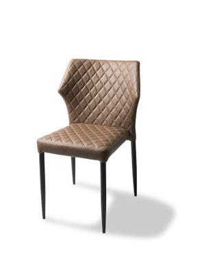 Chaise de restaurant Louis, Cognac, rembourrée en cuir synthétique