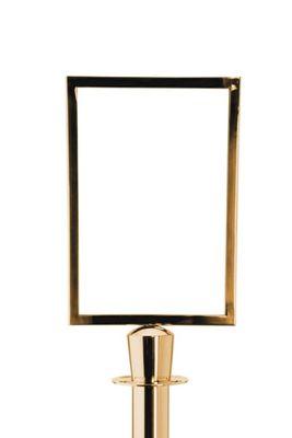 Info Tafel für Abgrenzungsständer - Zylinder - Gold
