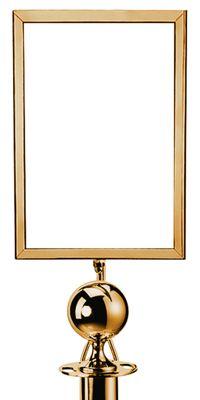 Info Tafel für Abgrenzungsständer - Kugel - Titanium Gold
