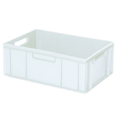 Bac empilable Euro 600x400 mm, blanc - 220 mm