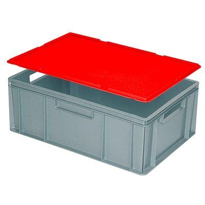 Auflagedeckel für Euro-Stapelbehälter -  rot