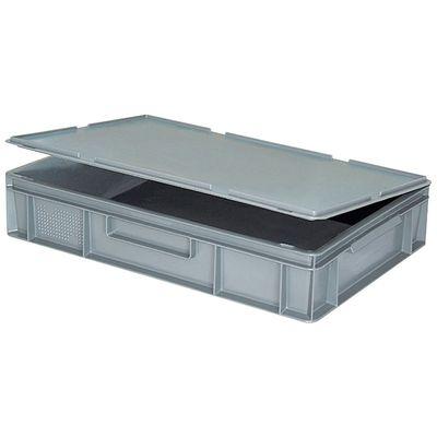 Scharnierdeckel für Euro-Stapelbehälter -  grau