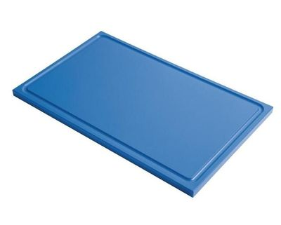 Planche à découper avec rainure de jus Gastro-M GN 1/1 bleu