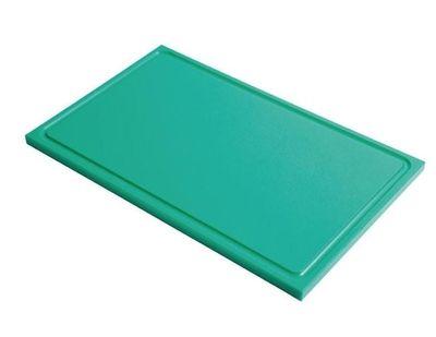 Planche à découper avec rainure de jus Gastro-M GN 1/1 vert